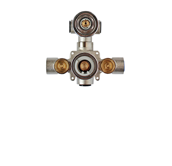 Thermostatic rough-in with 2 way diverter