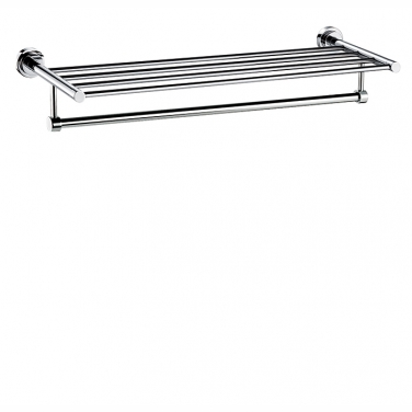 "24"" towel shelf with bar"