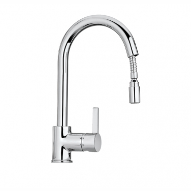 Pull-down kitchen faucet, 1 spray