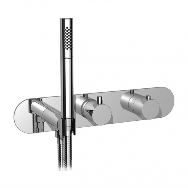 "3/4"" thermostatic 2-way shower valve with hand shower - TRIM ONLY"