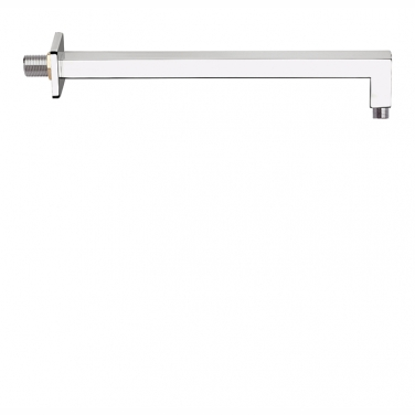 "16"" shower arm with square flange"