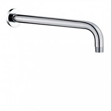 "18"" shower arm with round flange"