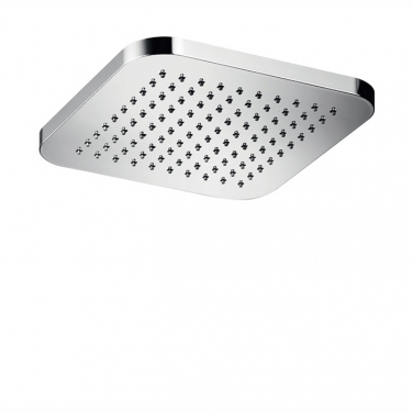 "Kuky 8"" square rain head with rounded corners"