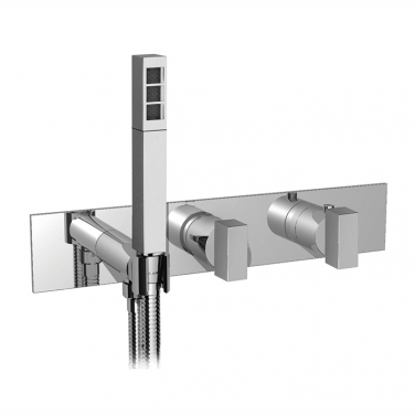 "3/4"" thermostatic 2 way shower valve with handshower TRIM ONLY"