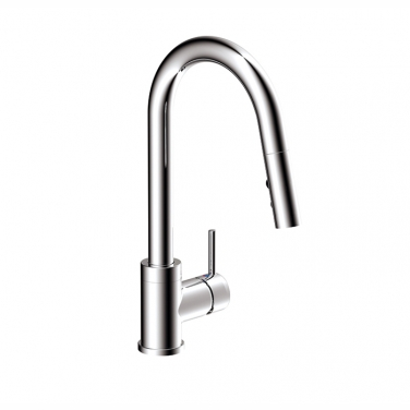 Pull-down kitchen faucet, 2 sprays